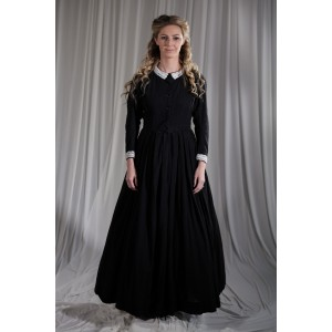 Crinoline/Civil War – Women's Full Outfit,  Black Mourning