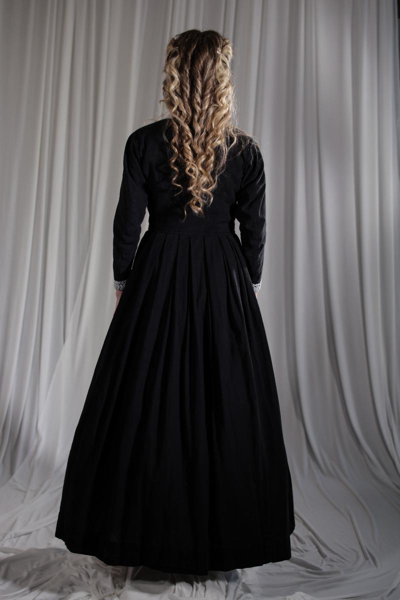 Crinoline/Civil War – Women's Full Outfit,  Black Mourning