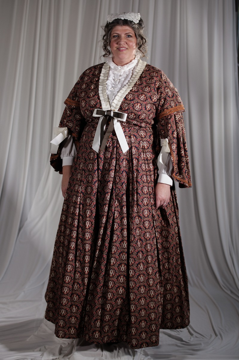 Crinoline/Civil War – Women's Full Outfit,  Brown Pattern