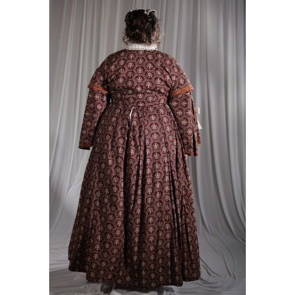 Crinoline/Civil War – Women's Full Outfit,  Brown Pattern