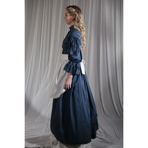 Crinoline/Civil War – Women's Full Outfit,  Teal Blue