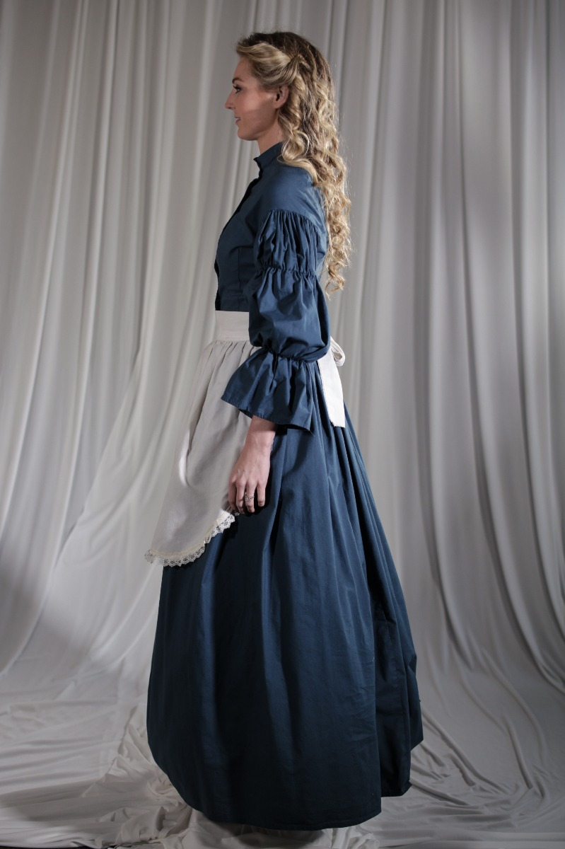 Crinoline/Civil War – Women's Full Outfit,  Teal Blue