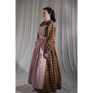 Crinoline/Civl War – Women's Full Outfit,  Brown Pattern