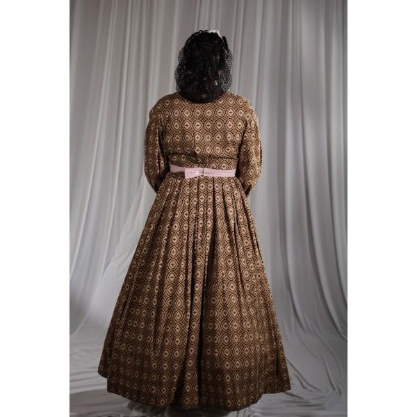 Crinoline/Civl War – Women's Full Outfit,  Brown Pattern