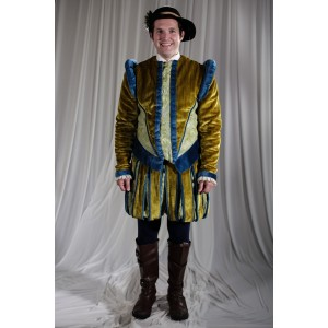 Renaissance – Men's Full Outfit,  Yellow 2