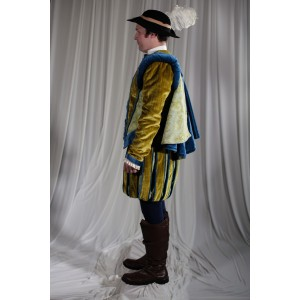 Renaissance – Men's Full Outfit,  Yellow