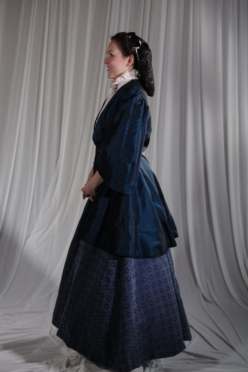 Crinoline/Civil War – Women's Full Outfit,  Dk Blue Jacket