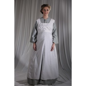 Crinoline/Civil War – Women's Full Outfit,  Maternity,  Lt Grey Pattern