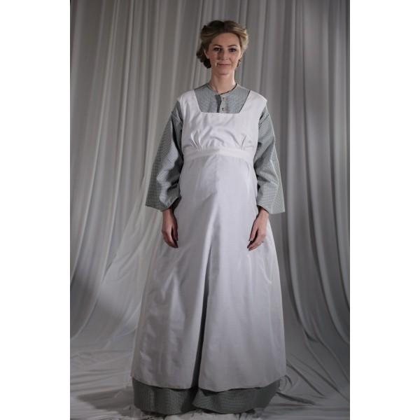 Crinoline/Civil War – Women's Full Outfit,  Maternity,  Lt Grey Pattern