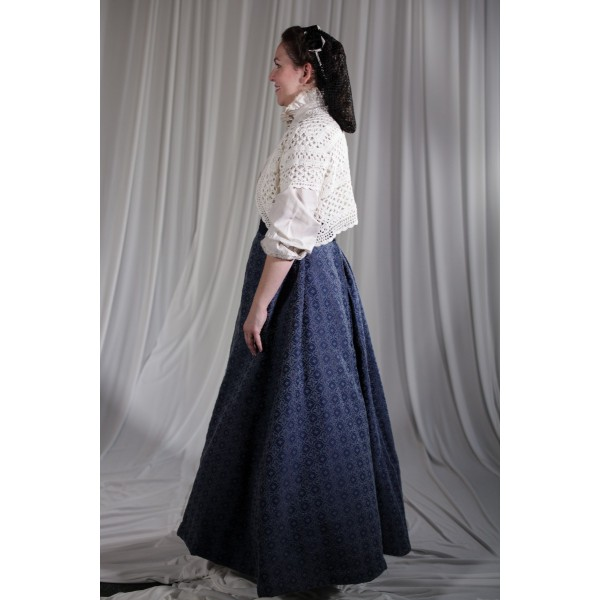 Crinoline/Civil War – Women's Full Outfit,  Blue and White