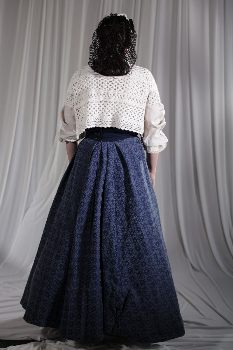Crinoline/Civil War – Women's Full Outfit,  Blue and White