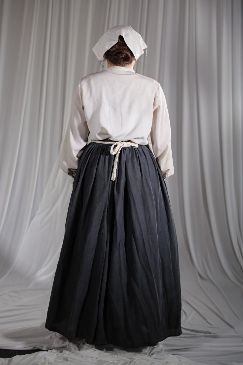 Crinoline/Civil War – Women'd Full Outfit,  Nurse,  Grey