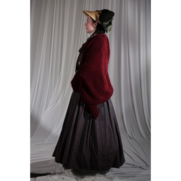 Crinoline/Civil War – Women's Full Outfit,  Red and Green