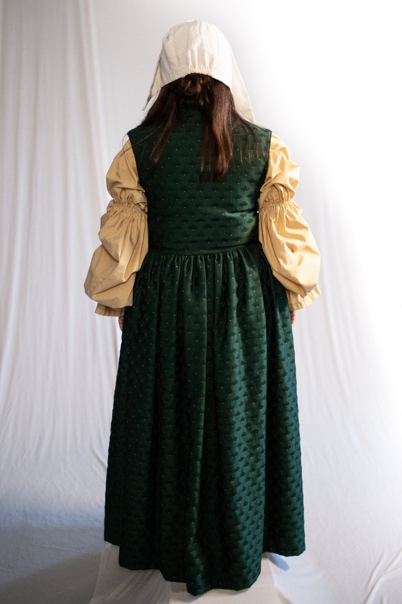 Renaissance – Women's Full Outfit,  Tan and Green