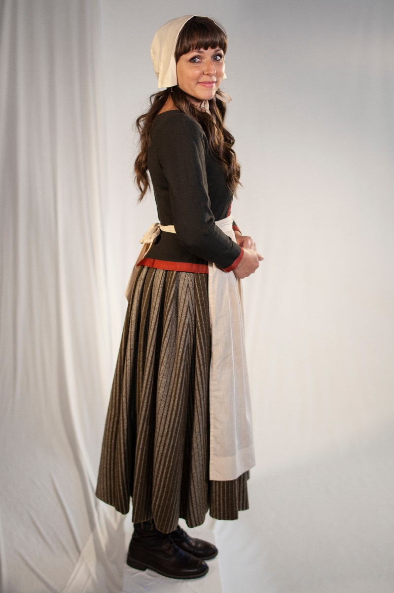 Renaissance – Women's Full Outfit,  Brown and Tan