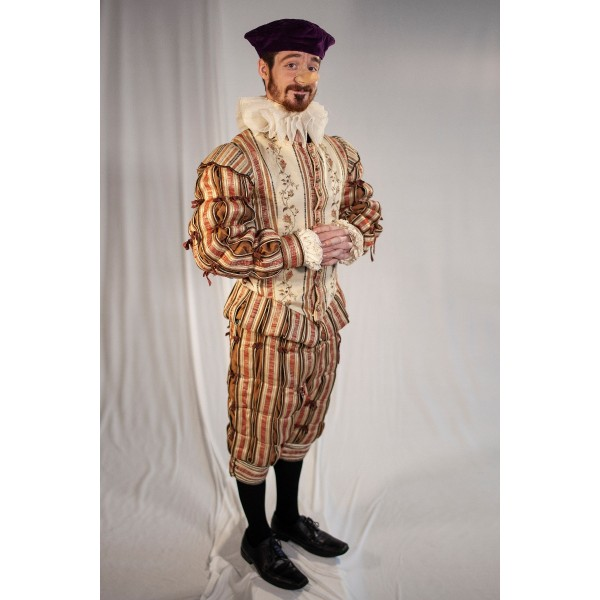 Tudor/ Elizabethan – Men's Full Outfit,  Cream and Salmon