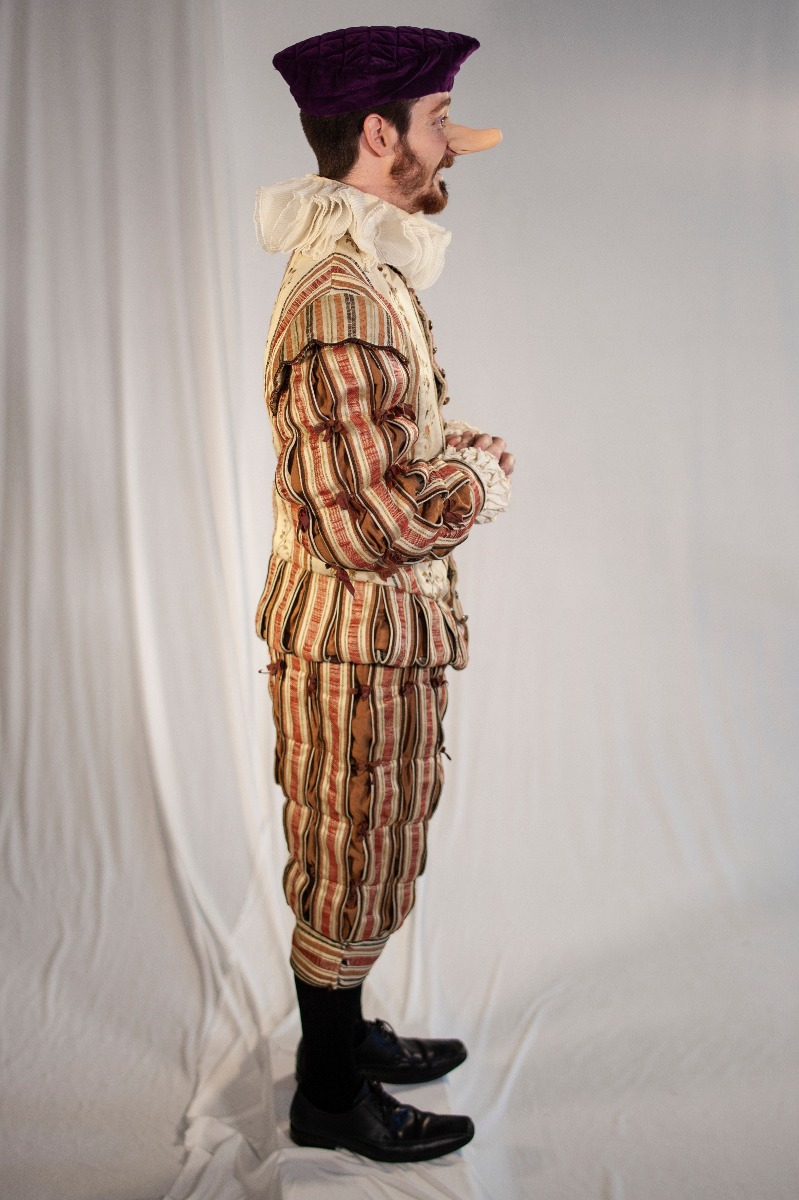 Tudor/ Elizabethan – Men's Full Outfit,  Cream and Salmon