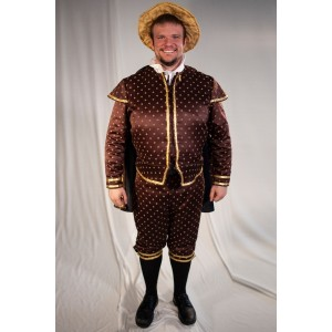 Tudor/ Elizabethan – Men's Full Outfit,  Dk Brown