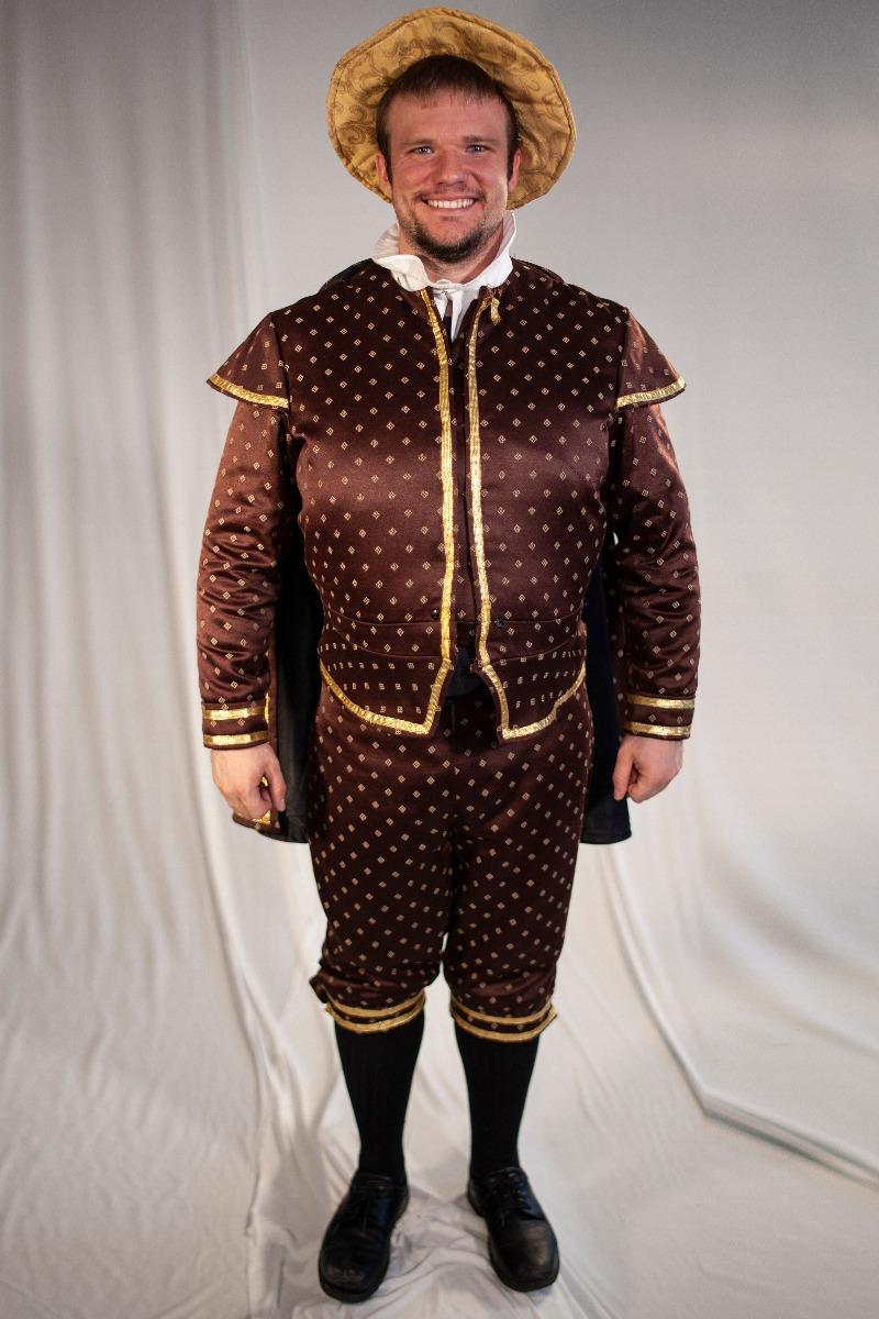 Tudor/ Elizabethan – Men's Full Outfit,  Dk Brown