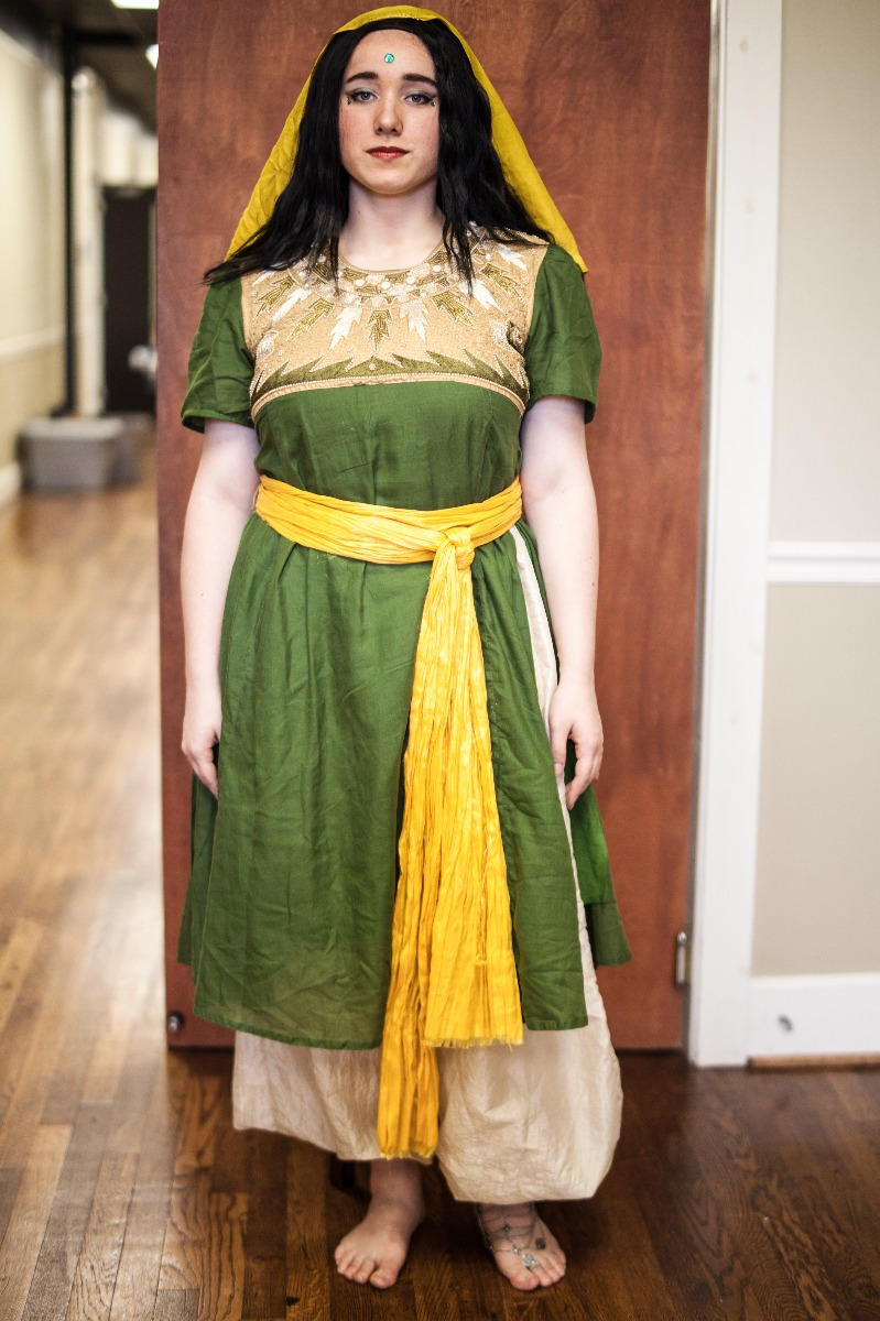Ancient Persian – Women's Full Outfit,  Green and Yellow