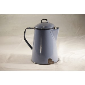Teapot, vintage blue