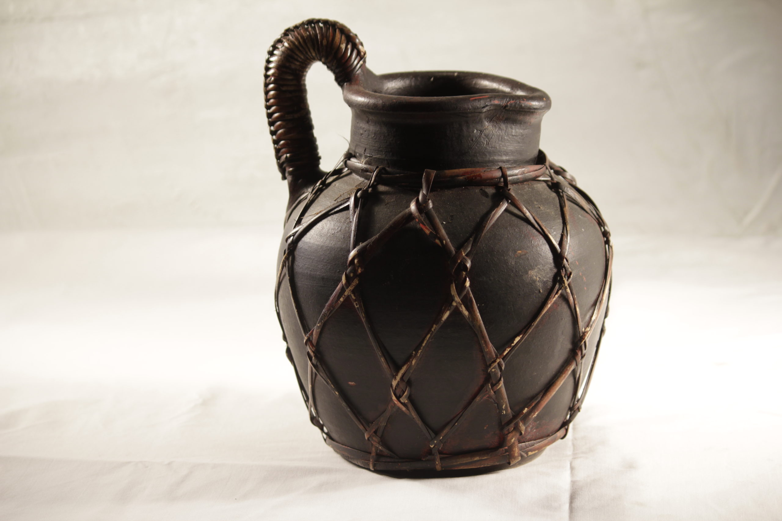 Pottery, Pitcher Brown Wicker