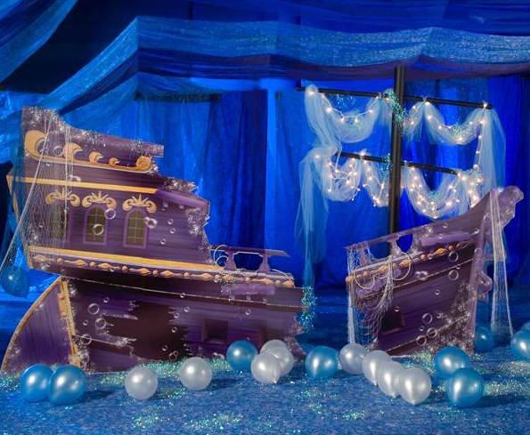 Sunken Pirate Ship Standee