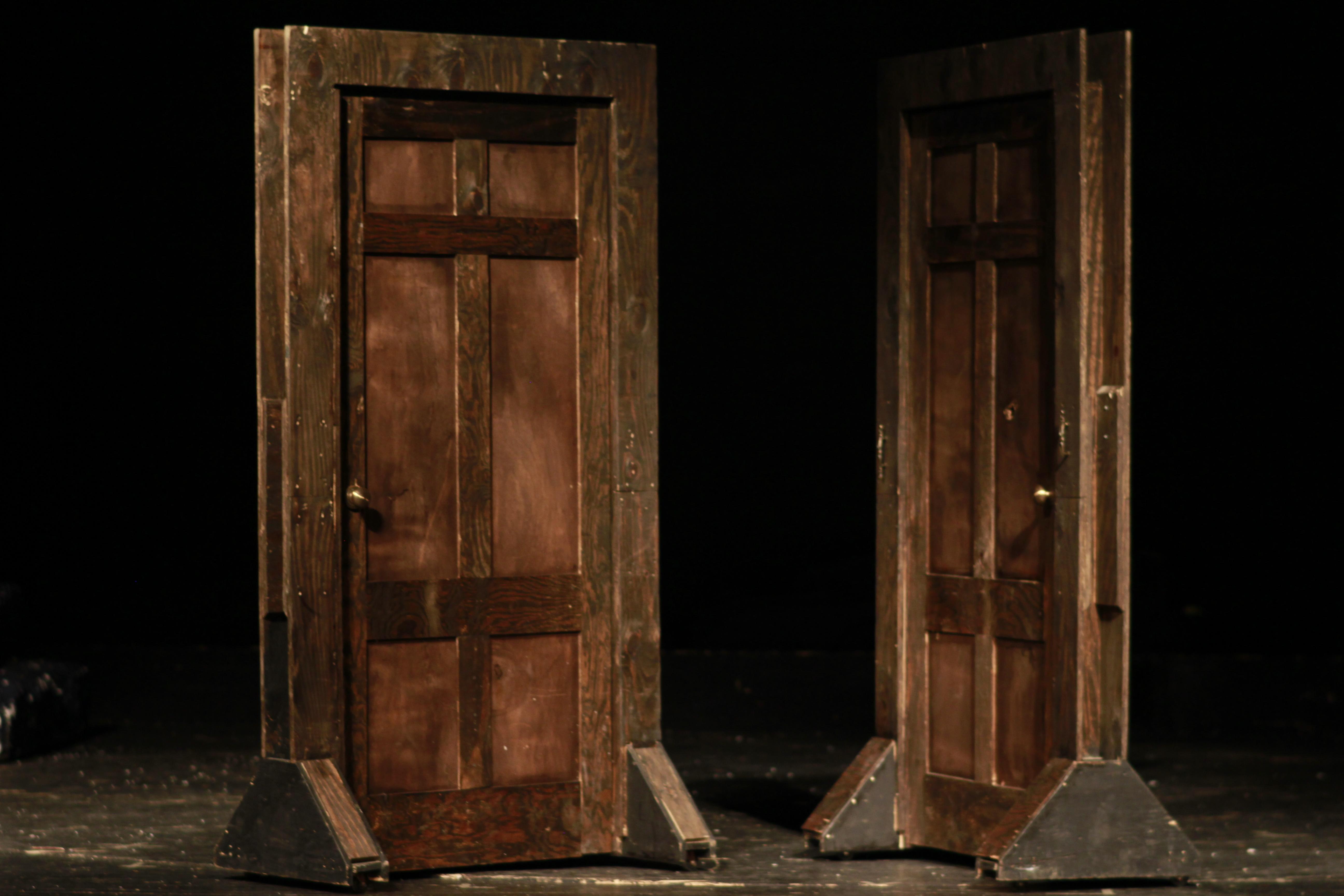 Door, Freestanding Old Wooden Square