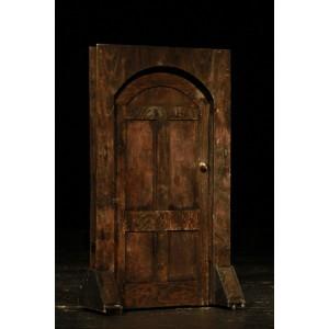 Door, Freestanding Old Wooden Curved