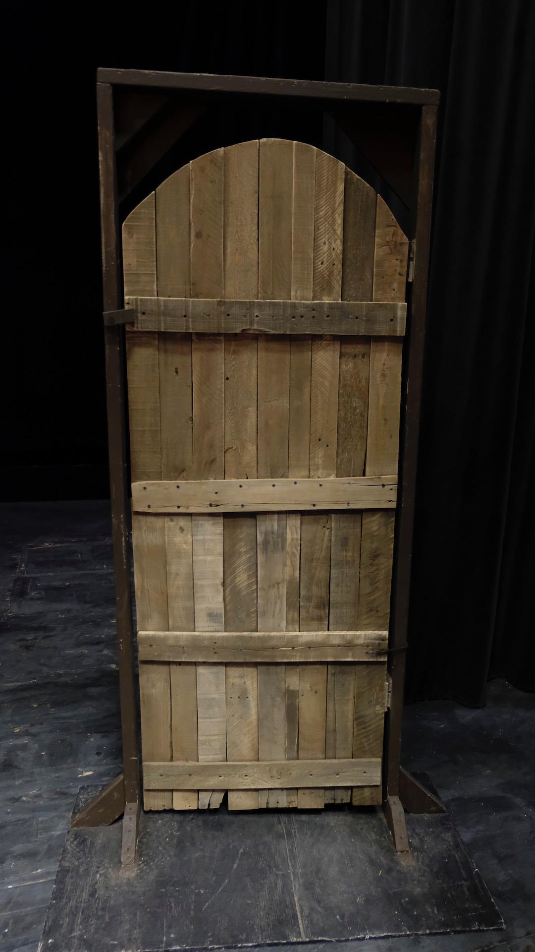 Wooden Door, Curved Arch
