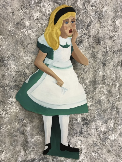 Alice in Wonderland Wooden Standees