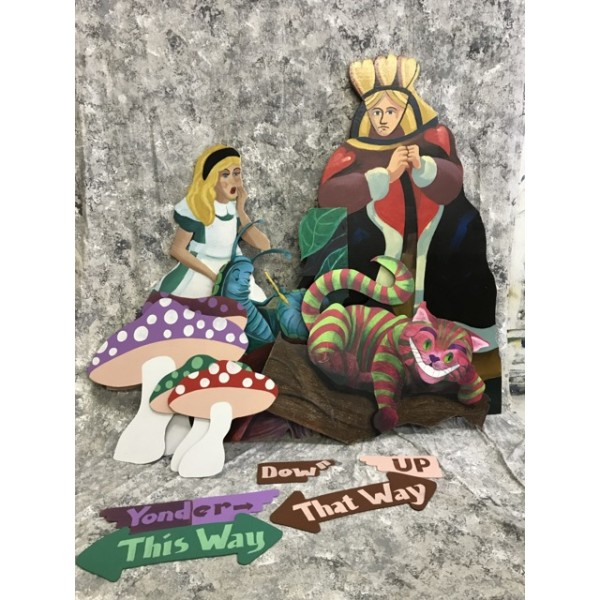 Alice in Wonderland Wooden Standees