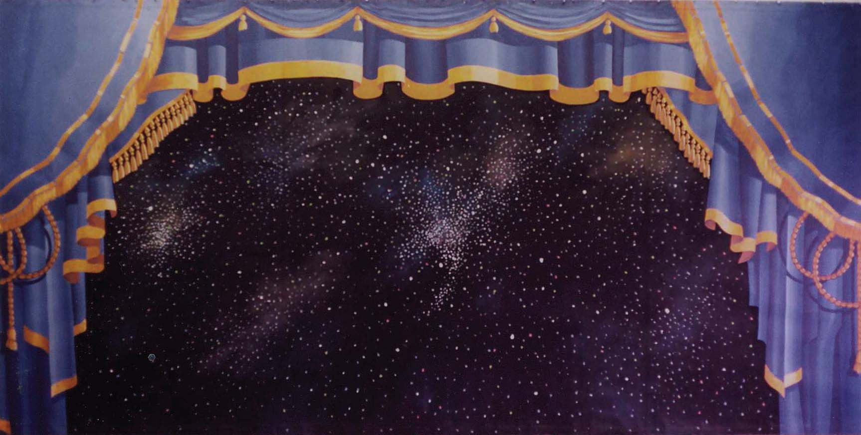 Blue Stage Curtain Backdrop, Large