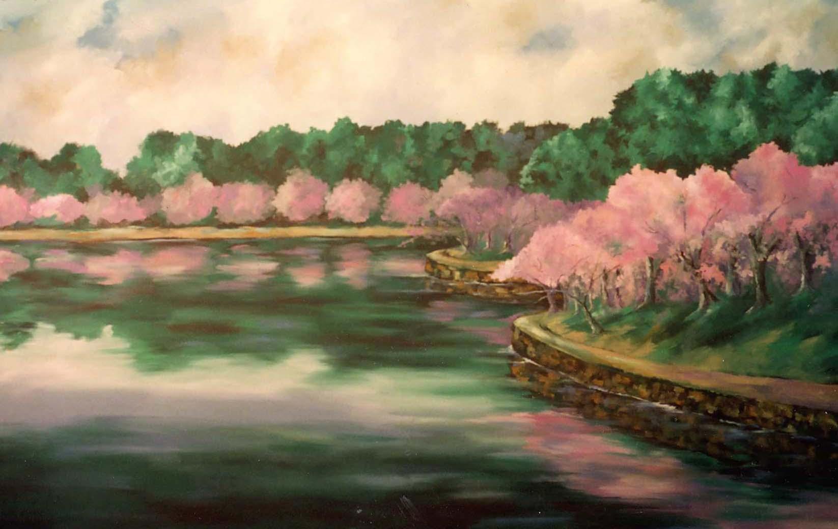 Cherry Blossom Backdrop