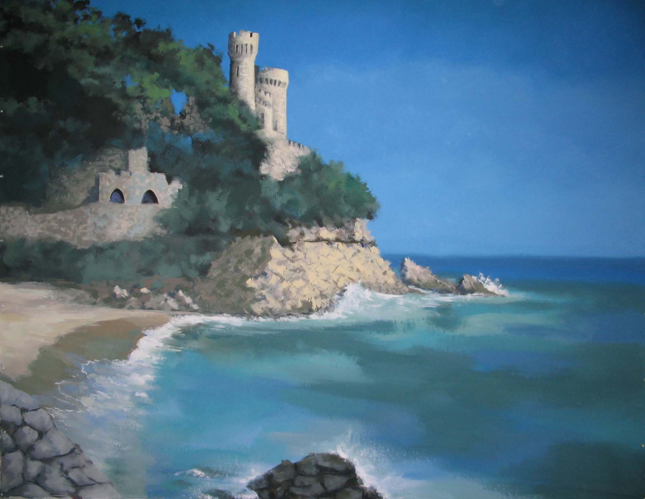 Coastal Brava Backdrop, Castle Ruins