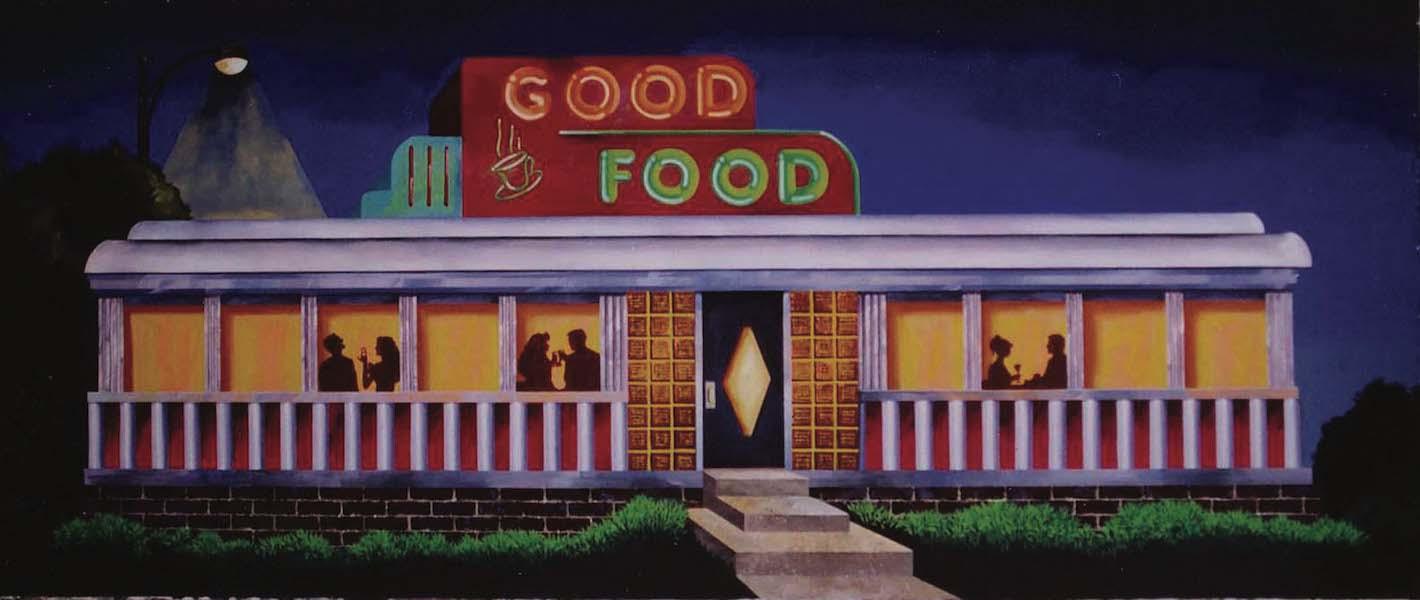 Retro Diner Backdrop