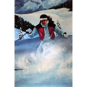 Snow Skier Backdrops