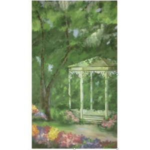 Garden Gazebo Backdrop