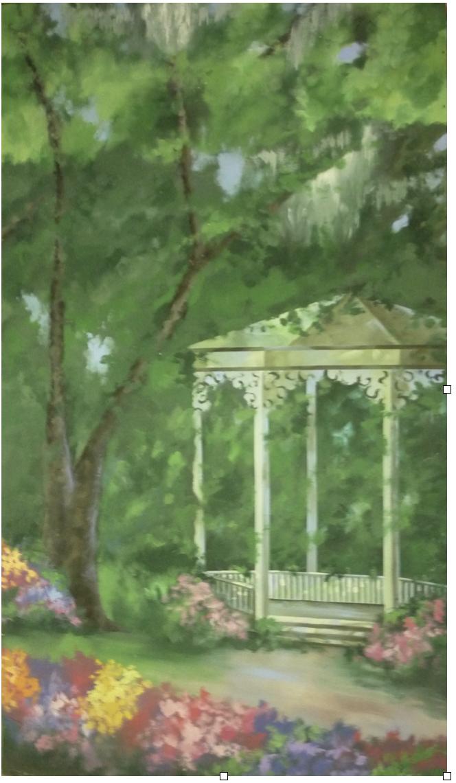Garden Gazebo Backdrop