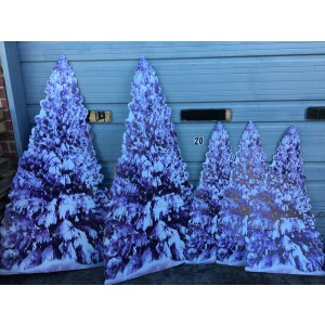 Winter Tree Standees