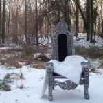 Silver Chair in Snow