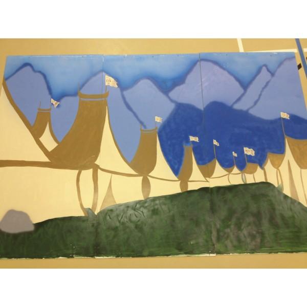 Mulan Wood Panel Backdrop, Camp 2