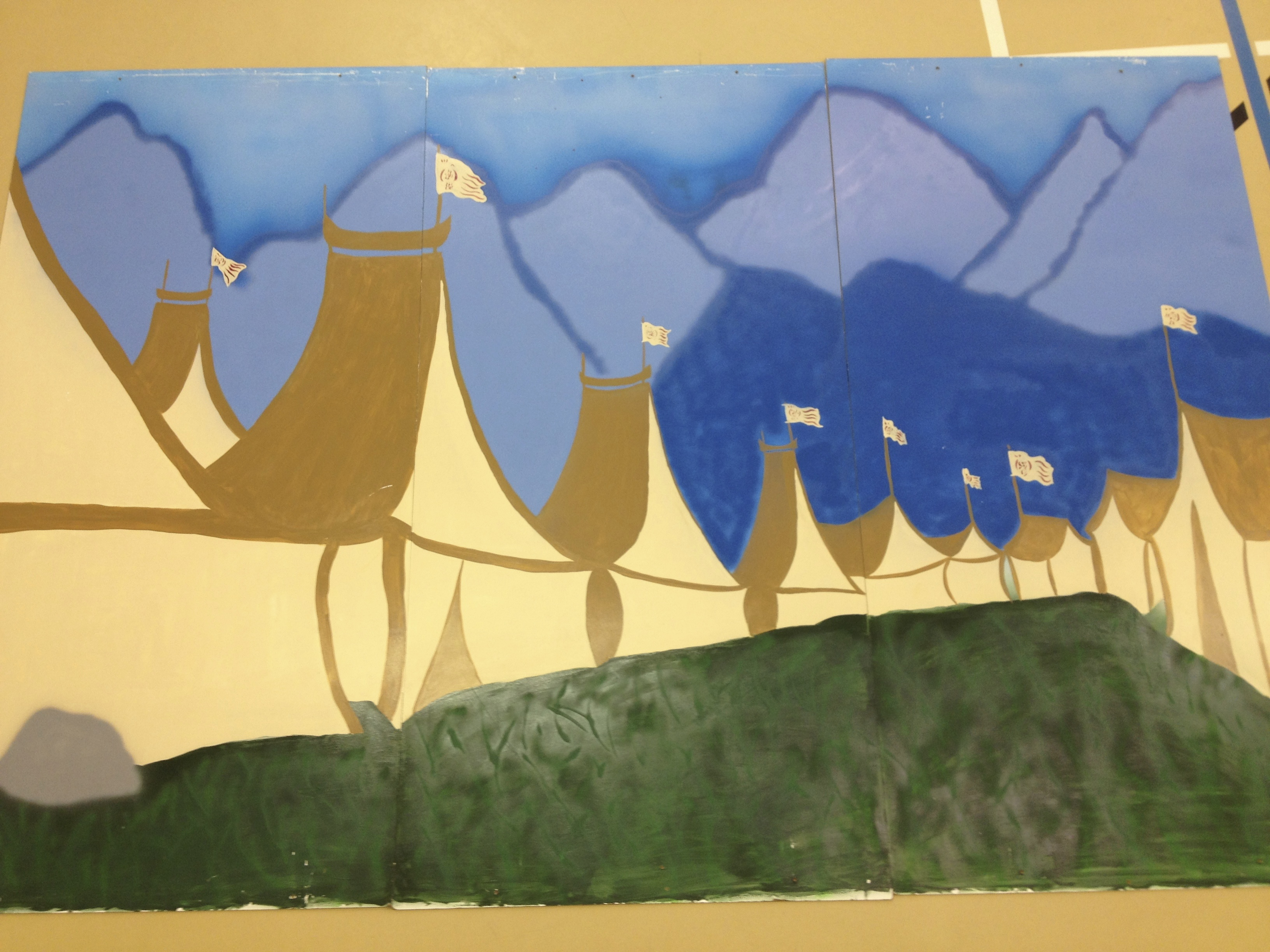 Mulan Wood Panel Backdrop, Camp