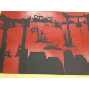 Mulan Wood Panel Backdrop, Burned Camp
