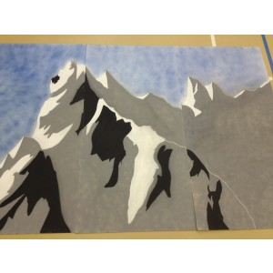 Mulan Wood Panel Backdrop, Mountain