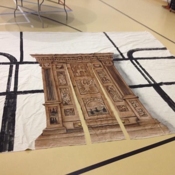 Narnia Wardrobe Fabric Backdrop