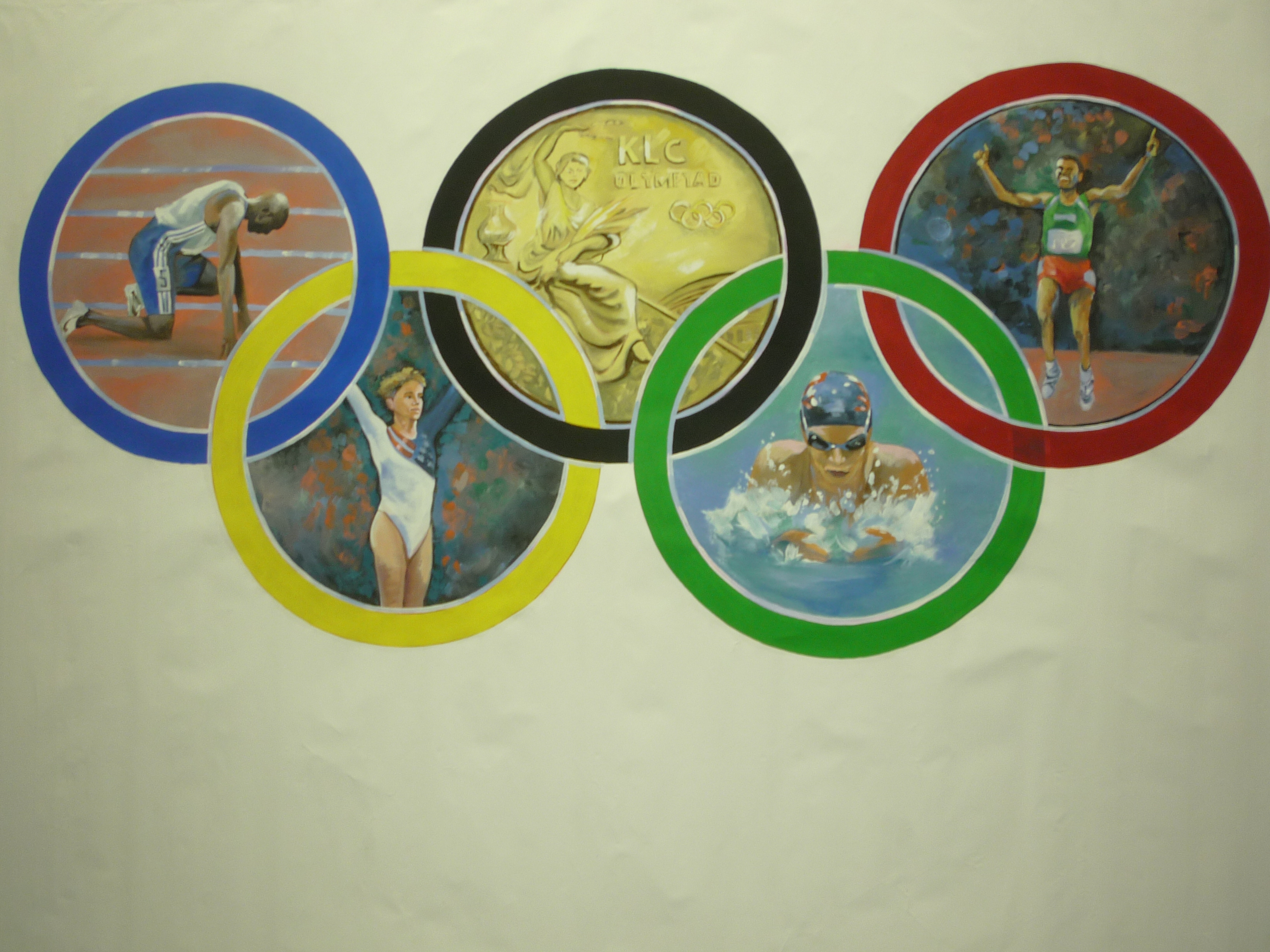 Olympic Rings Backdrop