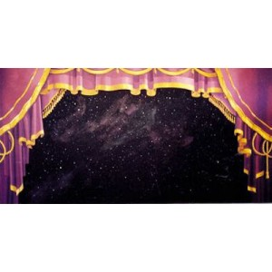 Purple Stage Curtain Backdrop