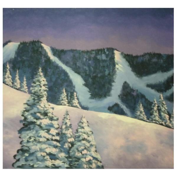 Winter Mountain Backdrop