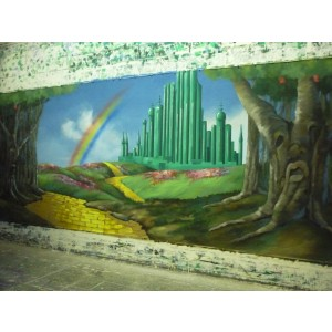 Emerald City Oz Backdrop